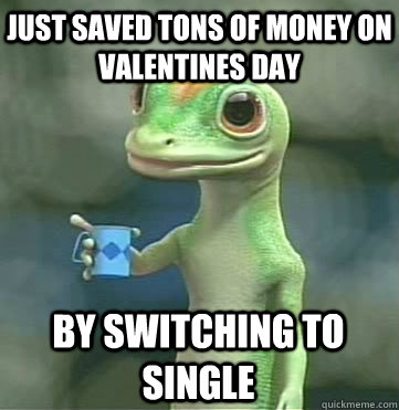 just saved tons of money on valentines day by switching to  - Geico