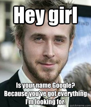 hey girl is your name google because youve got everything  - Ryan gosling