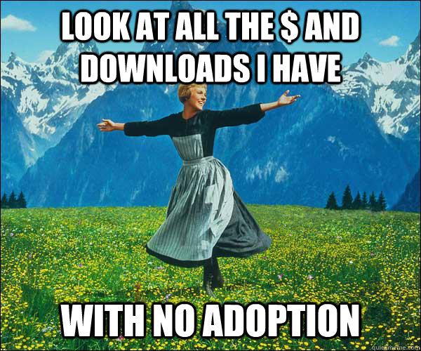 No adoption, no nothing. Mobile enterprise