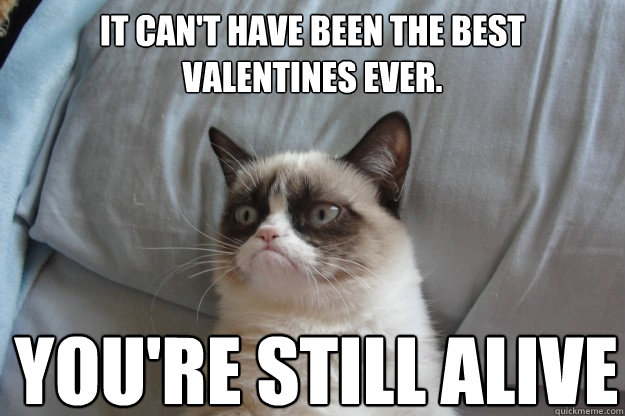 it cant have been the best valentines ever youre still al - GrumpyCatOL