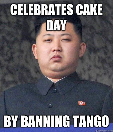 Celebrates cake day than a chinese phoneboo - kimjongun