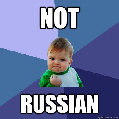 not russian - Success Kid
