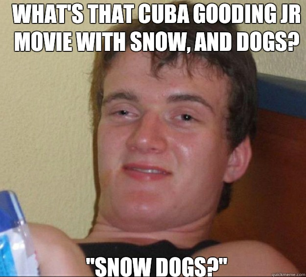 whats that Cuba Gooding Jr movie with snow and dogs for my h - 10guy
