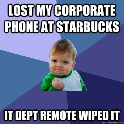IT remote wipe