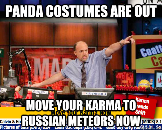 panda costumes are out move your karma to russian meteors no - move your karma now