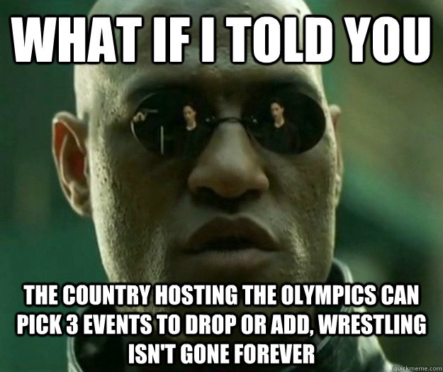 what if i told you the country hosting the olympics can pick - Hi- Res Matrix Morpheus