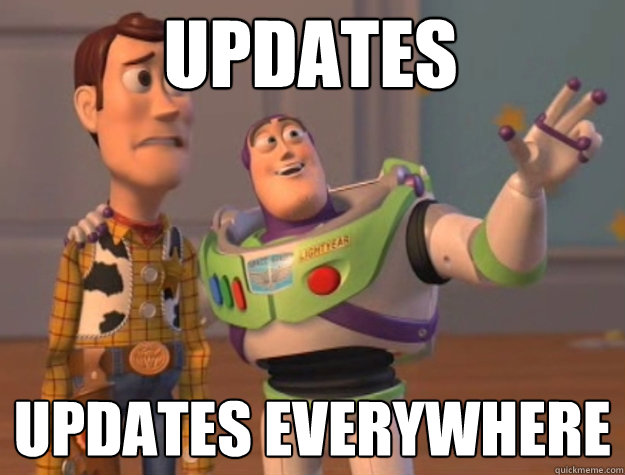 updates updates everywhere - toystory everywhere
