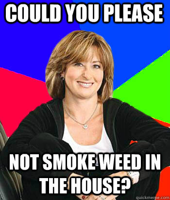 could you please not smoke weed in the house - Sheltering Suburban Mom