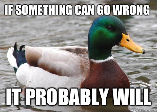 If something can go wrong It probably will - Actual Advice Mallard