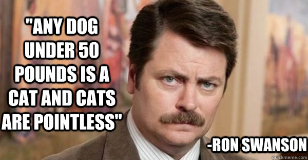 Ron Swanson On Cats And Dogs