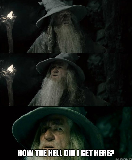 How the hell did I get here - Confused Gandalf