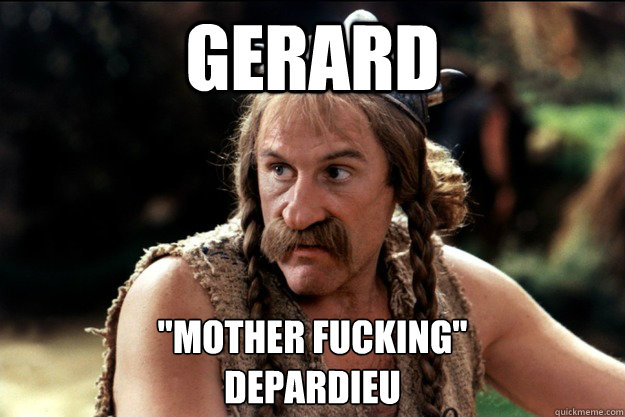 gerard mother fucking depardieu - TIL That Peter Jackson cast one actor as all of the Dwarves in The Hobbit FAKE