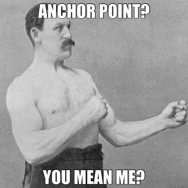 ANCHOR POINT? YOU MEAN ME? - overly manly man