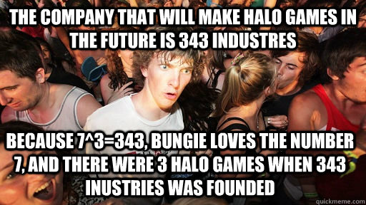 the company that will make halo games in the future is 343 i - Sudden Clarity Clarence