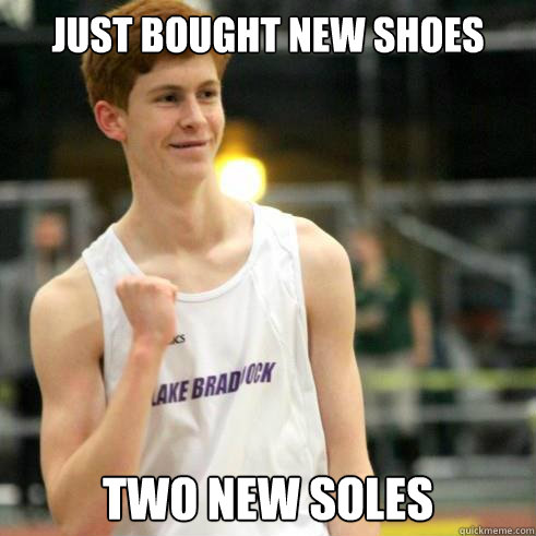 just bought new shoes two new soles - Success Ginger