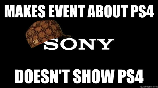 makes event about ps4 doesnt show ps4 -
