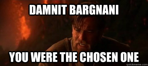 damnit bargnani you were the chosen one - Obi Wan Not pleased