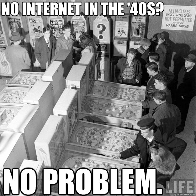 no internet in the 40s no problem - Pinball 1943