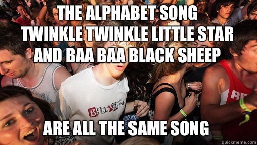 The alphabet song Twinkle Twinkle Little Star And Baa Baa Bl - Sudden Clarity Clarence