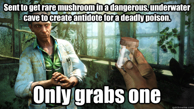 sent to get rare mushroom in a dangerous underwater cave to -