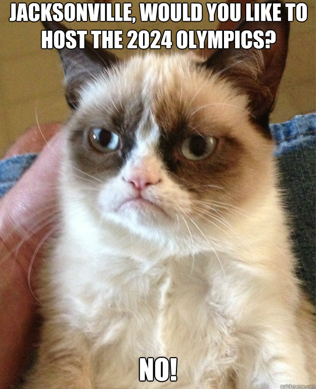 jacksonville would you like to host the 2024 olympics no - Grumpy Cat
