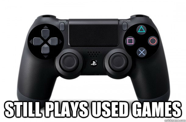 still plays used games - 