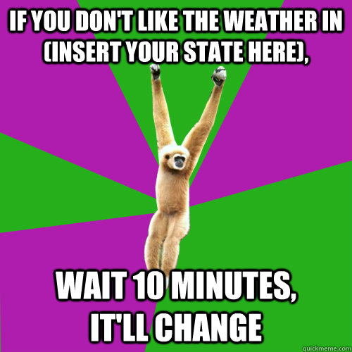 if you dont like the weather in insert your state - Over-used quote gibbon