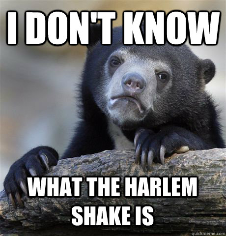 i dont know what the harlem shake is - Confession Bear