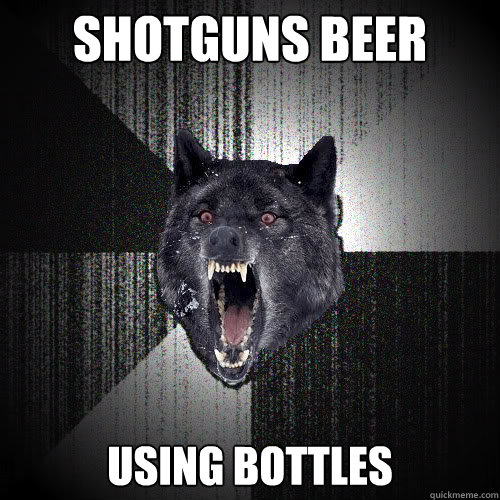 shotguns beer using bottles - insanitywolf
