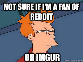 not sure if im a fan of reddit or imgur - Notsureif