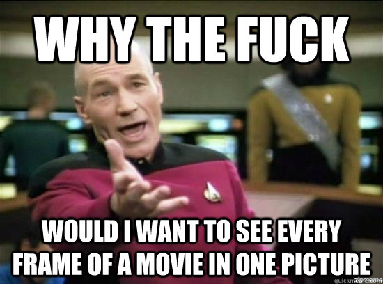 why the fuck would i want to see every frame of a movie in o - Annoyed Picard HD