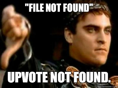 File not found Upvote not found  - Downvoting Roman