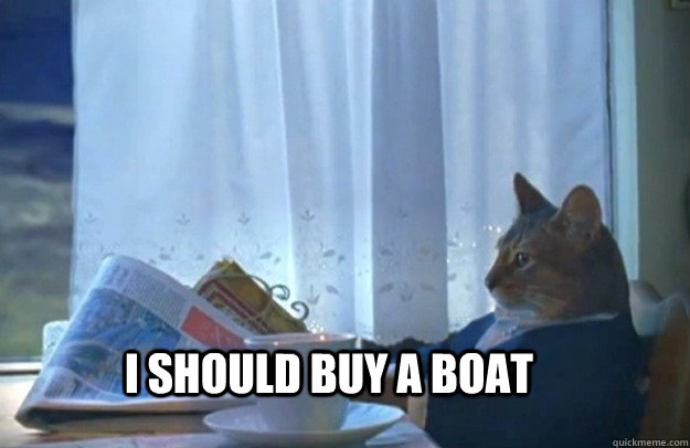 i should buy a boat - Sophisticated Cat