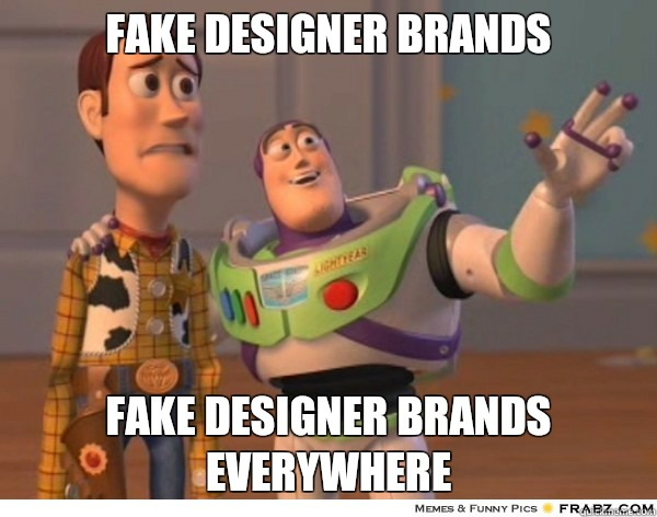 Fake designer brands Nodes everywhere - Buzzlightyear