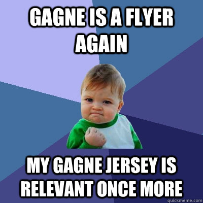 gagne is a flyer again my gagne jersey is relevant once more - Success Kid