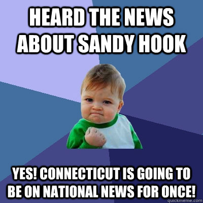 heard the news about sandy hook yes connecticut is going to - Success Kid