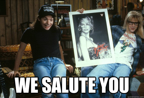 we salute you - 