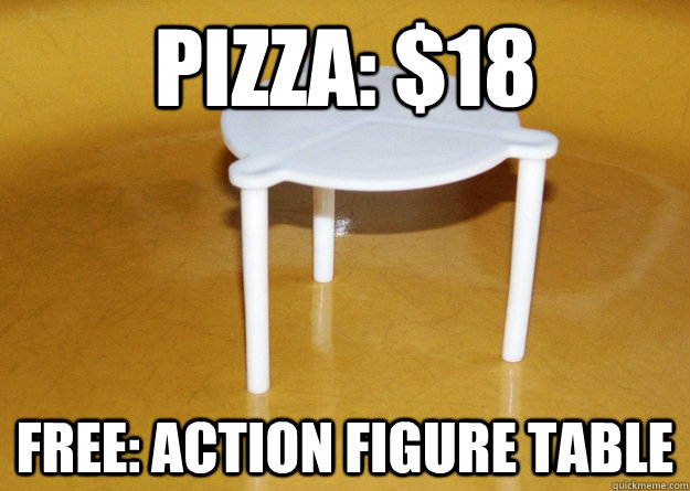 pizza 18 free action figure table -