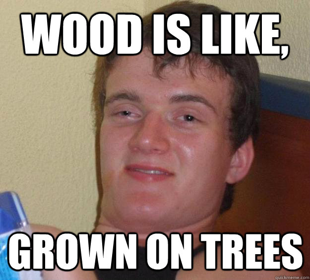 wood is like grown on trees - 10 Guy
