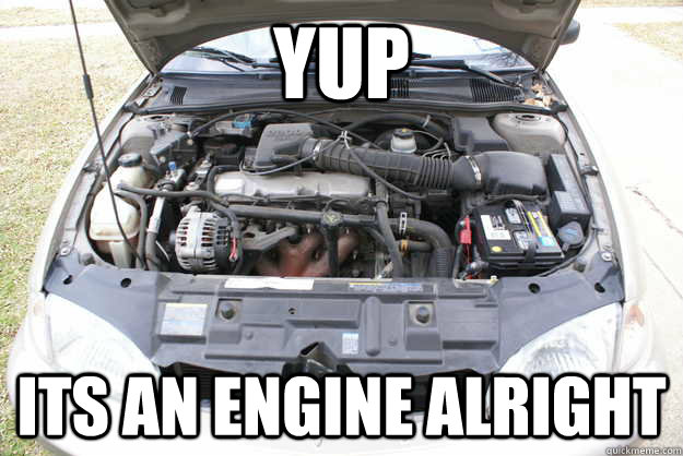 yup its an engine alright -