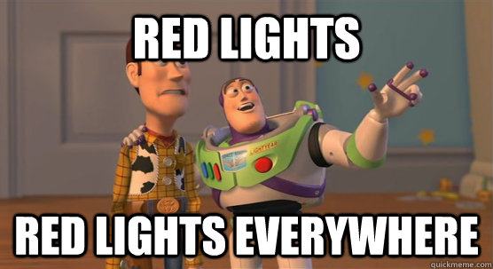red lights red lights everywhere - Toy Story Everywhere