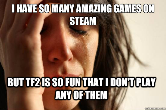 i have so many amazing games on steam but tf2 is so fun that - FirstWorldProblems