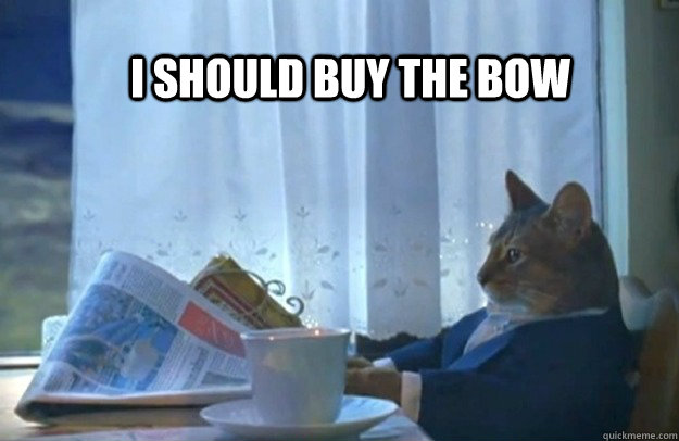 i should buy the bow - Sophisticated Cat