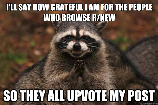 ill say how grateful i am for the people who browse rnew s - Evil Plotting Raccoon