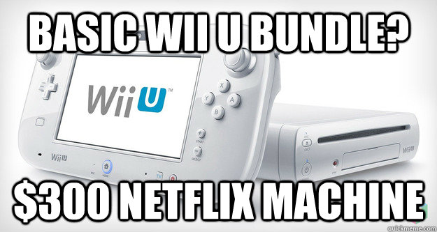 basic wii u bundle 300 netflix machine - 
