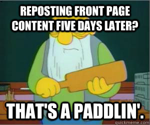 reposting front page content five days later thats a paddl - Paddlin Jasper