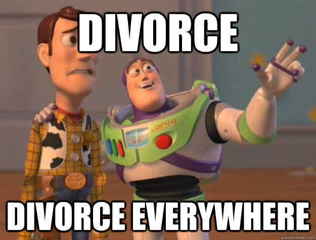 divorce divorce everywhere - Buzz Lightyear
