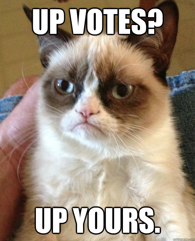 up votes up yours - Grumpy cat