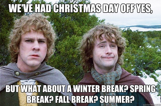 weve had christmas day off yes but what about a winter bre - Second breakfast