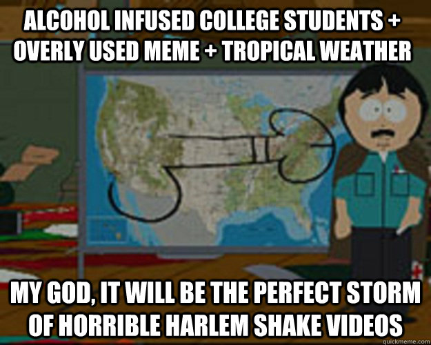 alcohol infused college students overly used meme tropic - Perfect Storm Randy